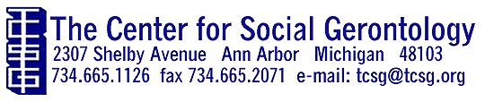 TCSG - The  Center for Social Gerontology